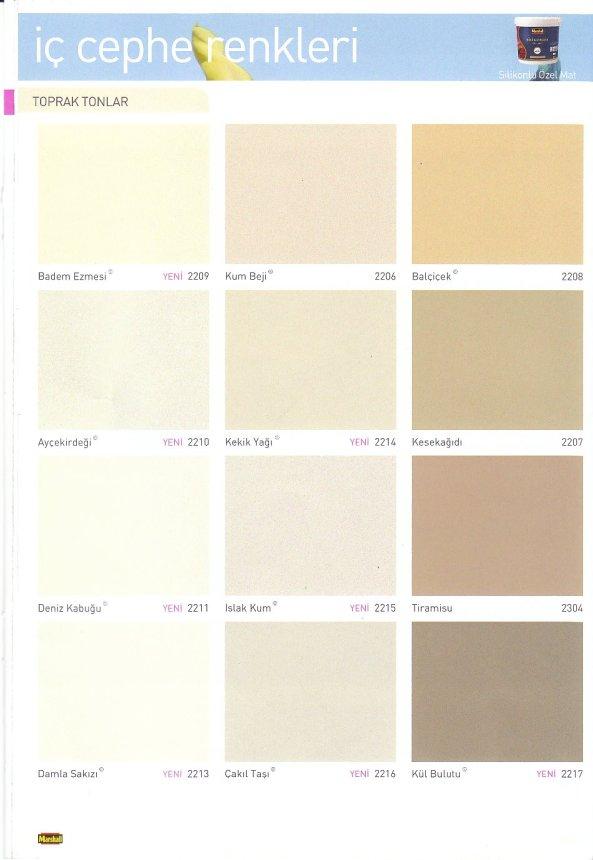 Marshall Renkler Yesil Tonlar Uğur Yapı Malzemeleri