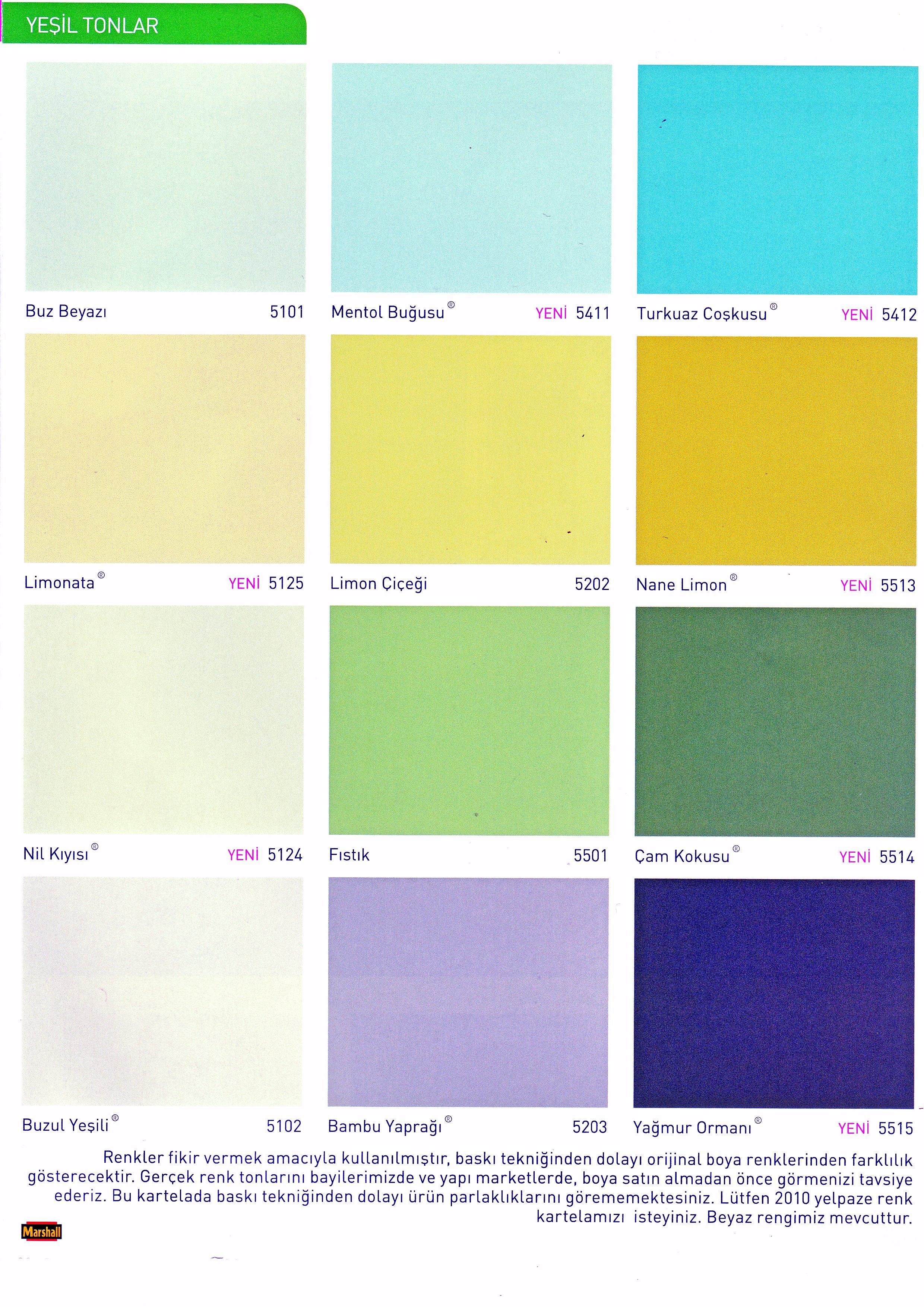 Marshall Renkler Maviler Ve Morlar Uğur Yapı Malzemeleri